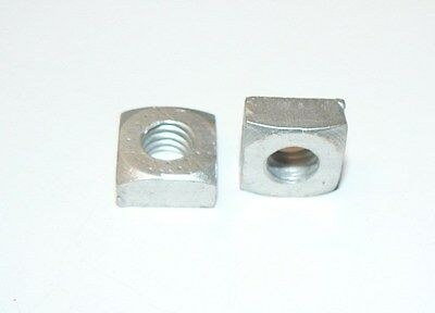 "5/16""-18 Aluminum Square Nuts - Lot of 100 Pcs."