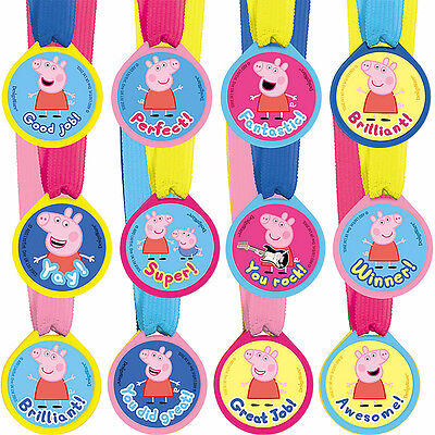 Peppa Pig Guest of Honor Award Medals Birthday Decoration Party Favor Supplies