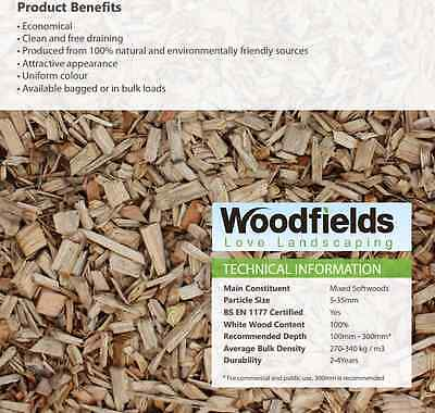 Landscaping Bark / Soft Play Chips / Gardening / Mulch / Chippings
