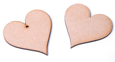 Wooden MDF Hearts Love Hearts Shape Pointed Heart Craft Tags Embellishments