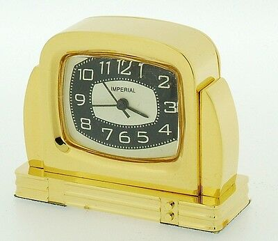 Novelty Miniature 50's TV Clock in Solid Brass