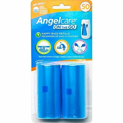Angelcare On The Go Travel Nappy Bag Refill Pack + Odur Control Easy Knot AC1310