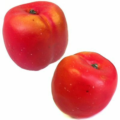 Artificial Nectarines - Nectarine Peach Fruit - Christmas - Choose Pack Size