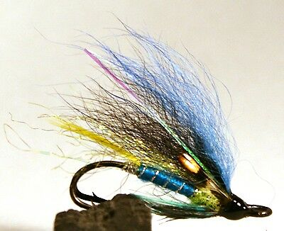 Salmon Fly,Avatar, Double Hook.(3-pack) Pick a size. Fly Fishing Fly