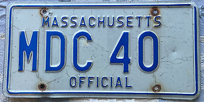 Massachusetts Metro District Commission License Plate 40 Rare Type
