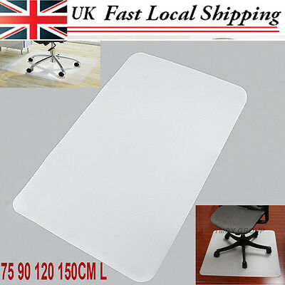 HARD FLOOR PROTECTOR PP CHAIR MAT 75 90 120 150CM L For Home Office High Quality