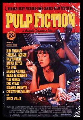 -A3-PULP FICTION MOVIE Film Cinema wall Home Posters Print Art - #21