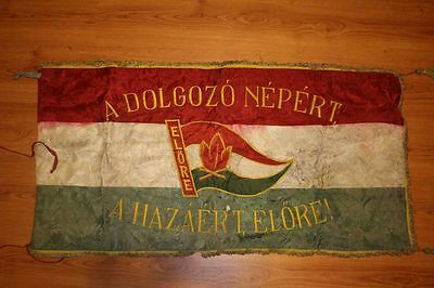 Vintage Hungarian pioneer movement flag from 1953
