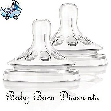 NEW AVENT - Natural Teat, 2 x Newborn Teats, 0m+ from Baby Barn Discounts