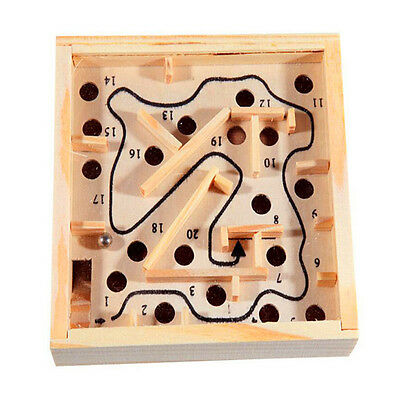 1PCS New Chic Small Wooden Maze Metal Balls Handcraft Game Puzzle Kids Toy Gift