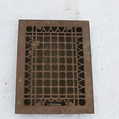 "Antique 16""x12"" Simonds Mfg Co Cast Iron Louvered Heat Vent Register Floor Grate"