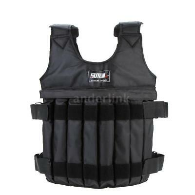 20KG 44LB Adjustable Workout Weight Weighted Vest Exercise Train Fitness AL Z1B5