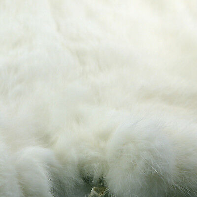 Lemo Genuine rabbit fur skin color naturally tanned for Crafts- white TO172-BAI