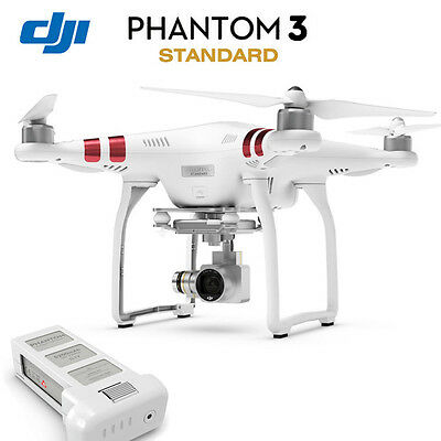 DJI Phantom 3 Standard FPV Quadcopter Drone 2.7K HD Video 12MP 3-Axis Gimbal RTF