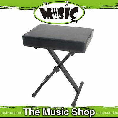 Xtreme KT146 Height Adjustable Keyboard Stool / Piano Seat - New The Music Shop