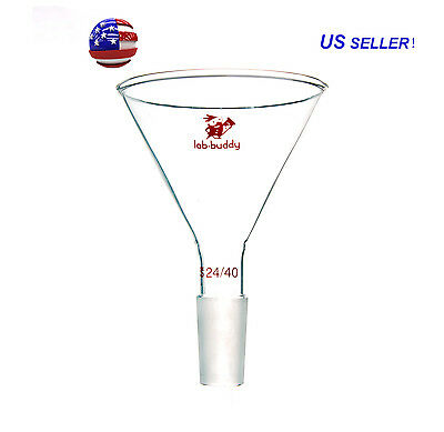 100mm 24/40 Glass Powder Funnel ,60 Degree Glass Powder Funnel Lab Glassware