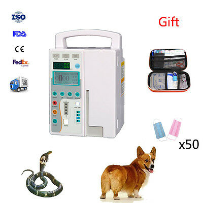 Veterinary HD LCD Infusion Pump IV & Fluid Administration Audible + visual alarm