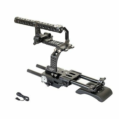 Camtree Sony FS700 15mm Cage support Mount Video Top handle Nex FS-700 + CASE