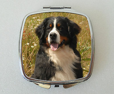 Bernese Mountian Dog Compact Mirror Handbag Valentines Mothers Day Novelty Gift