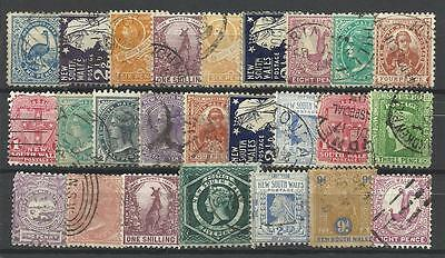 NEW SOUTH WALES Collection Packet of 25 Different COLONIES STATES Stamps Used
