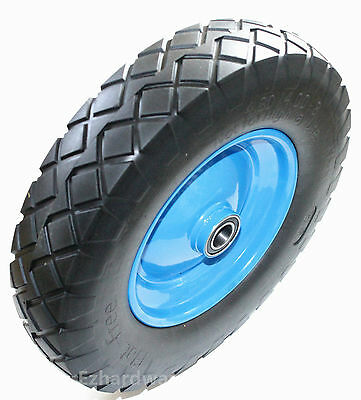 "16""Wheel Barrow Wheel Solid Wheel Pu Air Foam 16x4.5-8"