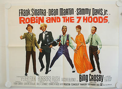 Robin And The Seven Hoods Original Uk Quad Film  Poster