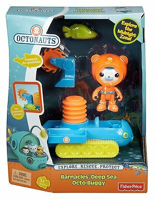Fisher Price Octonauts Barnacles Deep Sea Octo Buggy Ages 3+ New Toy Boys Girls