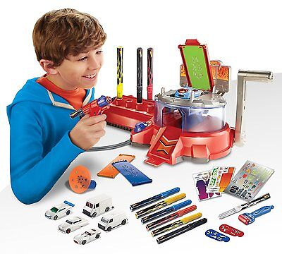 Hot Wheels Airbrush Car Designer Build Ages 6+ Race Track Ink Pen Toy Boys Gift