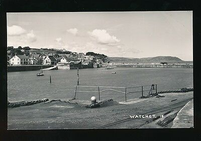 Somerset WATCHET Harbour c1950/60s? RP PPC by H H Hole