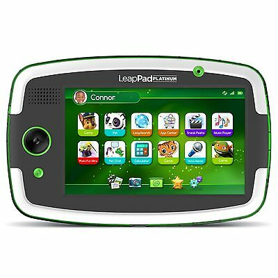 LeapFrog LeapPad Platinum Kids Learning Tablet Green 7 Inch Ages 3+ Toy Boys Fun