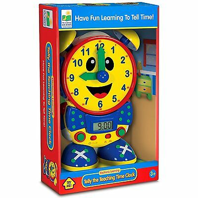 The Learning Journey Telly Teaching Time Clock Primary Ages 3+ New Boys Kids Fun