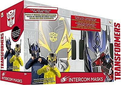 Transformers Intercom Mask Bumblebee Optimus Prime Robot Phone Mobile Ages 3+