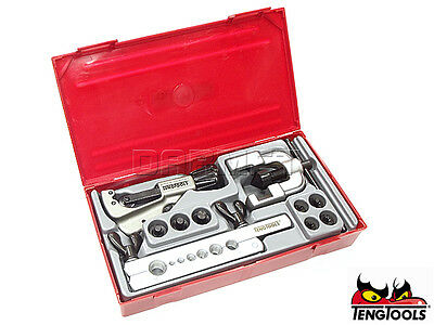 Teng Tools TTTF10 Pipe Cutter Flange Tool Set 10 Pcs Capacity: 3-32 14404-0102