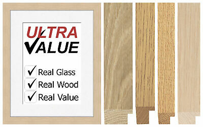 Art Gallery Professional Quality Imperial Sized SOLID Oak Picture Photo Frames
