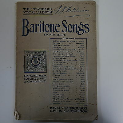 vocal BARITONE SONGS second series , bayley & ferguson standard album
