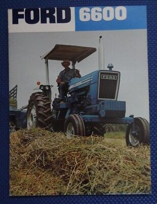 1975 Ford 6600 Tractor Color Sales Brochure - ORIGINAL New Old Stock