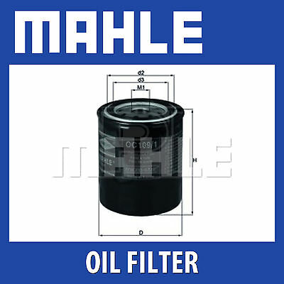 Mahle Oil Filter OC109/1 (fits Nissan)