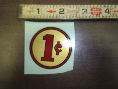 1 cent water release decal stock # 163