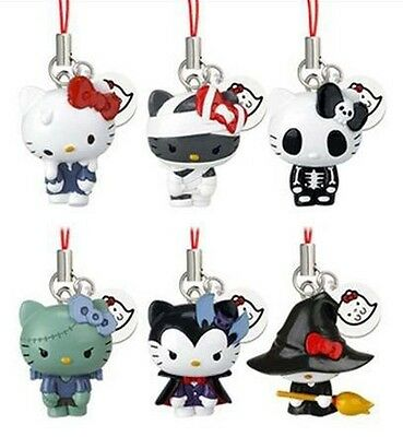 HELLO KITTY lot HALLOWEEN MONSTERS Vampire Mummy Zombie Witch Skeleton CHARM SET