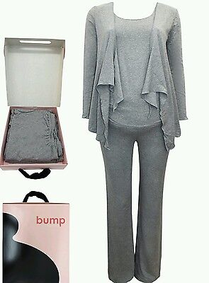 Seraphine Maternity Bump Kit 3 Piece Set Grey Marl Size Small 8-10 boxed RRP £75