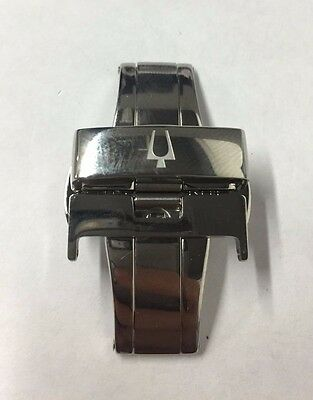 BULOVA Men's 96B128 Silver Clasp/Buckle 22MM Replacement For Leather Band Watch