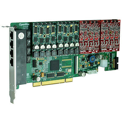 OpenVox A1610P00 16 Port Analog PCI card base board (sin módulos) + SP143