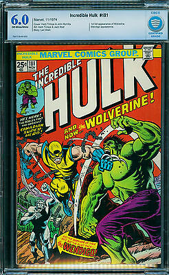 Incredible Hulk #181, CBCS 6.0, 1st Wolverine, not CGC