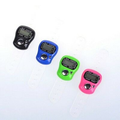 Cute Finger Ring Electronic Tally Counter Calculators Colorful Mini LCD Counters