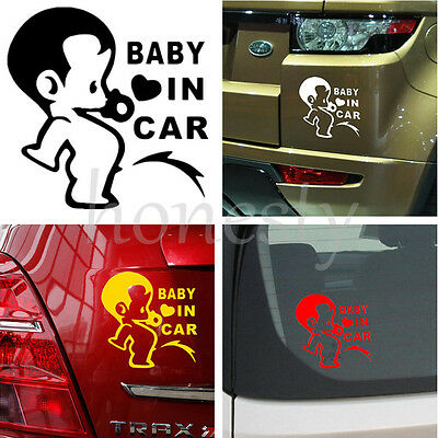 JDM Child Boys Baby In Car On Board Car Decal Window Bumper Laptop Wall  Sticker
