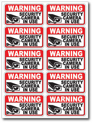 20 pack VIDEO SURVEILLANCE Security Burglar Alarm Decal  Warning Sticker Signs