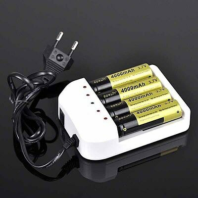 New Style Universal Battery Charger EU Plug For 4X 18650 26650 AA AAA Batteries