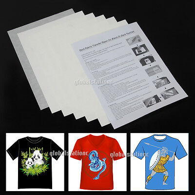10/20/50/100 sheets A4 Iron Heat Transfer Paper For Dark Light Cotton T-shirt OZ