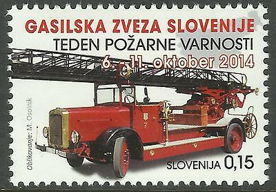 SLOVENIA 2014 FIRE ENGINE 1v MNH