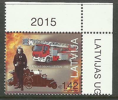 LATVIA 2015 FIRE FIGHTING ANNIV 1v MNH